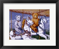 Framed Bears Riding a Carousel