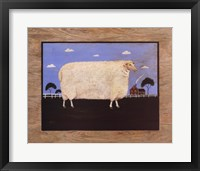 Sheep On Farm Framed Print