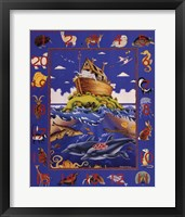 Noah's Ark Numbers Framed Print