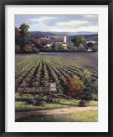Gathering Grapes Framed Print
