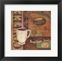 Coffees of the World - Brazil Framed Print