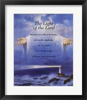 Framed Lighthouse and Jesus