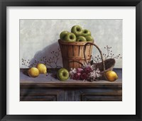 Framed Green Apples and Lemons