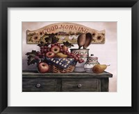 Framed Good Morning Plaque