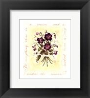 Framed Floral Violet