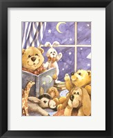 Framed Teddy Bear Storytime