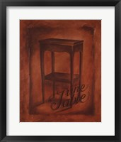 Une Table Framed Print