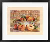 Framed Fruit Stand Peaches