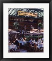 Framed Le Bistro de la Gare