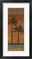 Framed Golden Palm II - mini