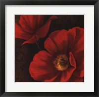 Framed Rouge Poppies II