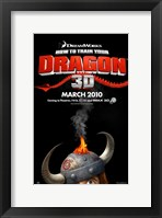 Framed How to Train Your Dragon - style A
