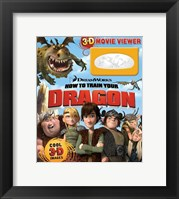 Framed How to Train Your Dragon - style B