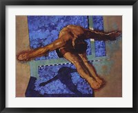 Olympic Diver Framed Print
