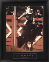 Framed Courage - Bull Rider