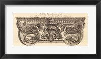 Framed Winged Lionesses, (The Vatican Collection)