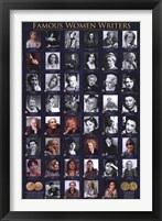 Framed Famous Women Writers