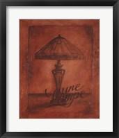 Framed Une Lampe