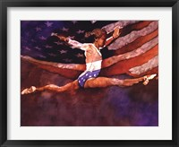Olympic Gymnast Framed Print