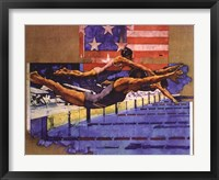 Olympic Swimmers Framed Print