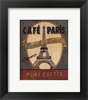 Coffee Blend Label II Framed Print