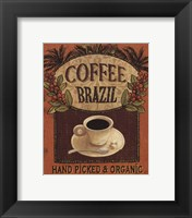 Coffee Blend Label IV Framed Print