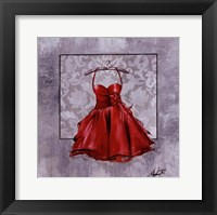 Framed Red Party Dress