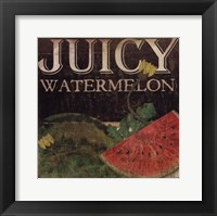Juicy Watermelon Framed Print