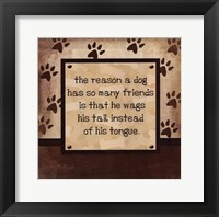 Framed Dog Wags Tail