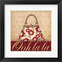 Ooh La La Purse I Framed Print