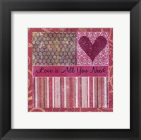 Love Is All Framed Print
