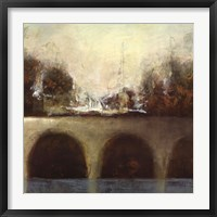 Foggy Bridge II Framed Print