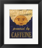 Powered by Caffeine Framed Print