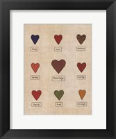 Framed Marriage Hearts