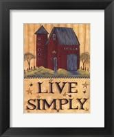Framed Live Simply Barn