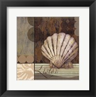 Contemporary Shell I Framed Print