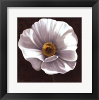 Framed White Poppies I - mini