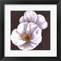 Framed White Poppies II - mini