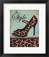 Giraffe Shoe Framed Print
