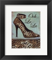 Leopard Shoe - mini Framed Print