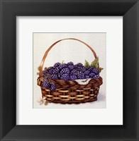 Framed Basket Of Blackberries