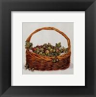 Basket Of Gooseberries Framed Print
