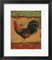 Rooster Portraits II Framed Print