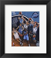 Framed 2009-10 Utah Jazz Team Composite