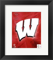 Framed 2009 University of Wisconsin Badgers Team Logo