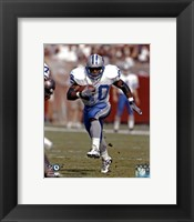 Framed Barry Sanders action