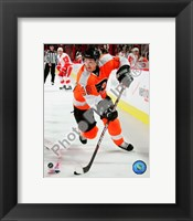 Framed Danny Briere 2009-10 Action