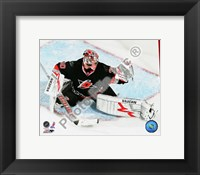 Framed Cam Ward 2009-10 Action