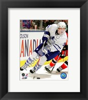 Framed Dion Phaneuf 2009-10 Action On Ice