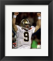 Framed Drew Brees Super Bowl XLIV Celebration (#1)